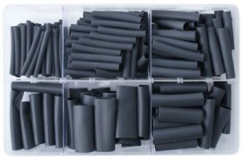 Assorted Black Heatshrink Tubing (Adhesive Lined)